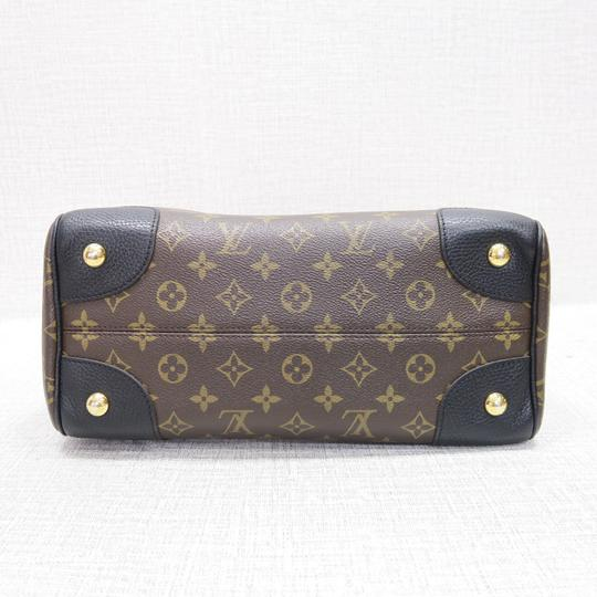 Louis Vuitton Lv Retiro Canvas Monogram Black Satchel in brown