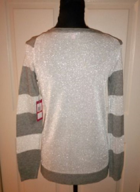 Vince Camuto Striped Sparkle Longsleeve Stripes Sweater