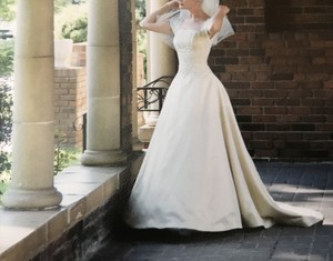 Melissa Sweet Couture Gown Champagne Feminine Wedding Dress Size 2 (XS)