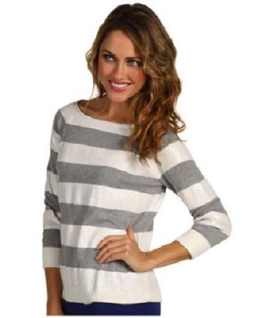 Vince Camuto Striped Stripes Sequin Embellished Sweater