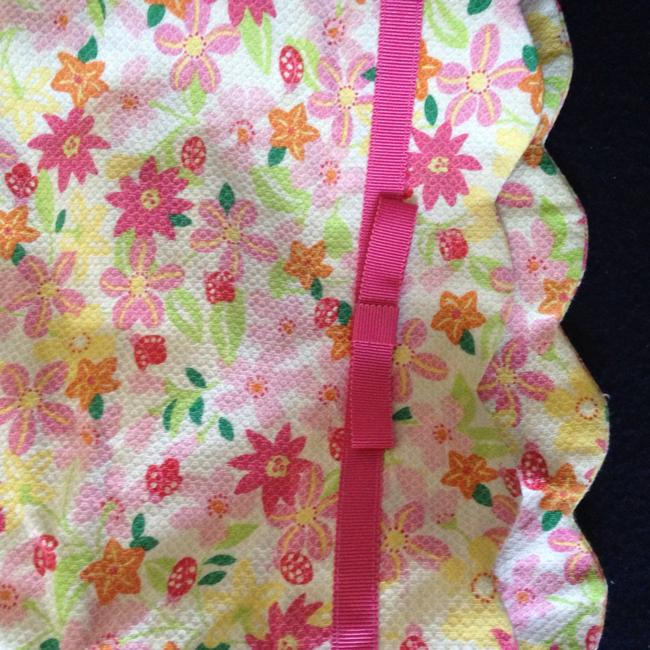 Lilly Pulitzer Fun Fun Summer Green Floral Mini Skirt Pink orange yellow