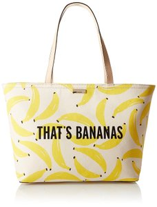 Kate Spade Preppy Tote in Yellow and Cream