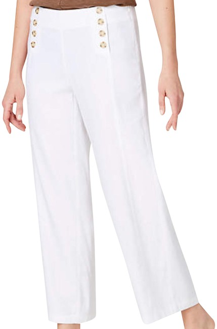 Preload https://img-static.tradesy.com/item/23495143/white-linen-stretch-button-front-crops-capricropped-pants-size-petite-8-m-0-1-650-650.jpg