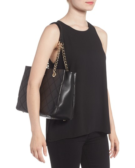 Kate Spade New York Emerson Place Allis Quilted Quilted Leather Shoulder Tote in Black