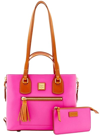 Preload https://img-static.tradesy.com/item/23495263/dooney-and-bourke-tote-with-accessories-fuchsia-top-grain-embossed-leather-leather-satchel-0-1-540-540.jpg