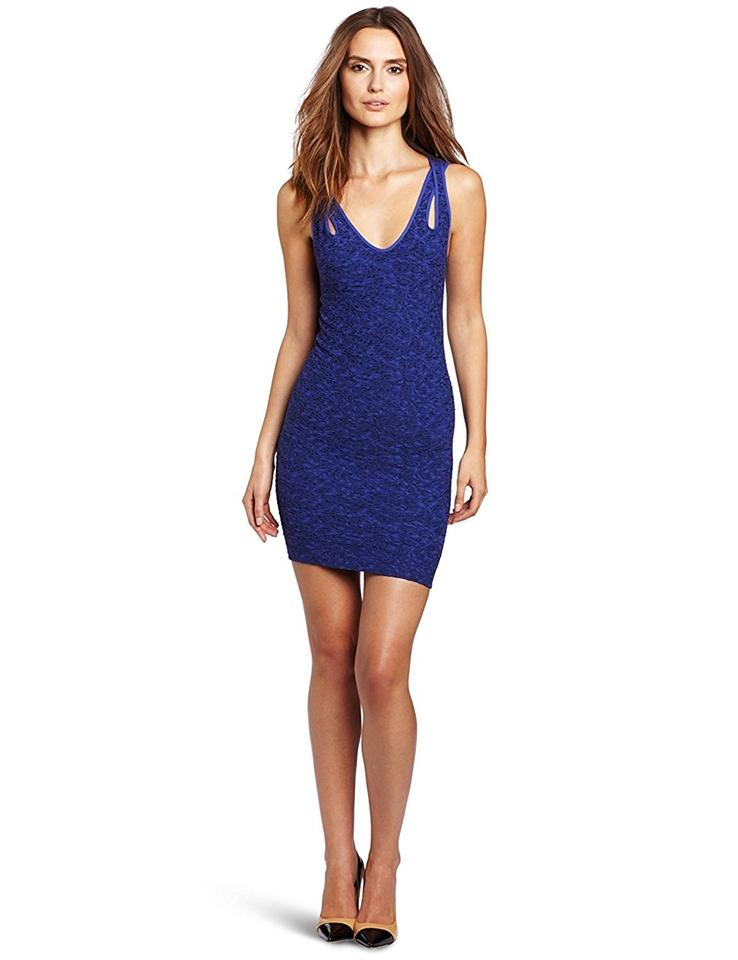 BCBGeneration Blue Twist Tank Short Night Out Dress Size 4 (S) - Tradesy 6e136665e