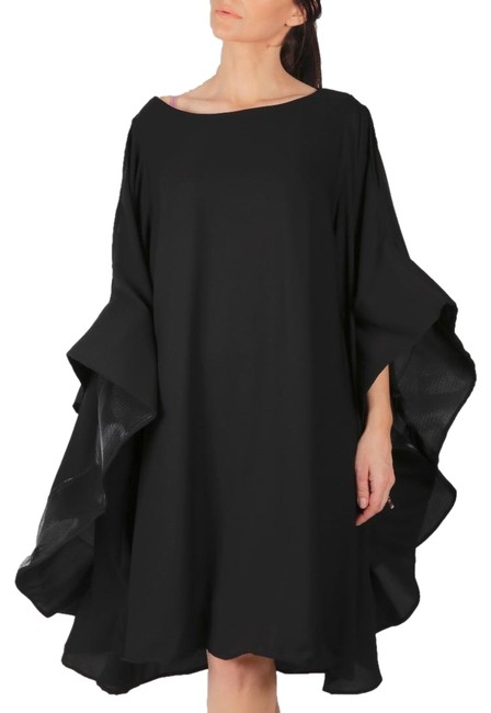 Preload https://img-static.tradesy.com/item/23495318/black-batwing-sleeves-mid-length-short-casual-dress-size-24-plus-2x-0-1-650-650.jpg