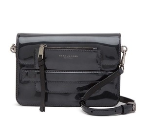 Marc Jacobs Madison Patent Leather Pouch Flap Closure Dark Cross Body Bag