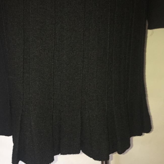 St John Couture Wool Pleated Jacket + Skirt Suit