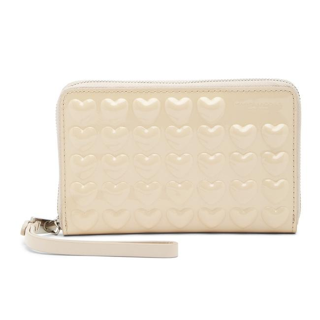 Item - Seashell Collection Heart Patent Leather Wingman Wristlet Wallet