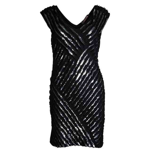 Preload https://img-static.tradesy.com/item/23495529/roberto-cavalli-black-sequin-embellished-sleeveless-silk-mid-length-short-casual-dress-size-8-m-0-0-650-650.jpg