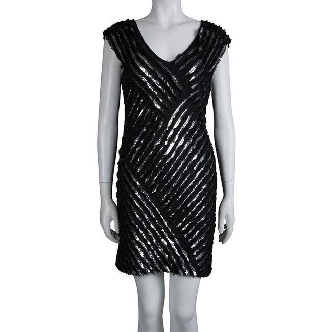 Roberto Cavalli short dress Black Embellished Sequin Silk on Tradesy