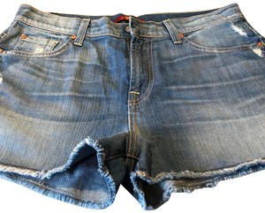 7 For All Mankind Cut Off Shorts Blue
