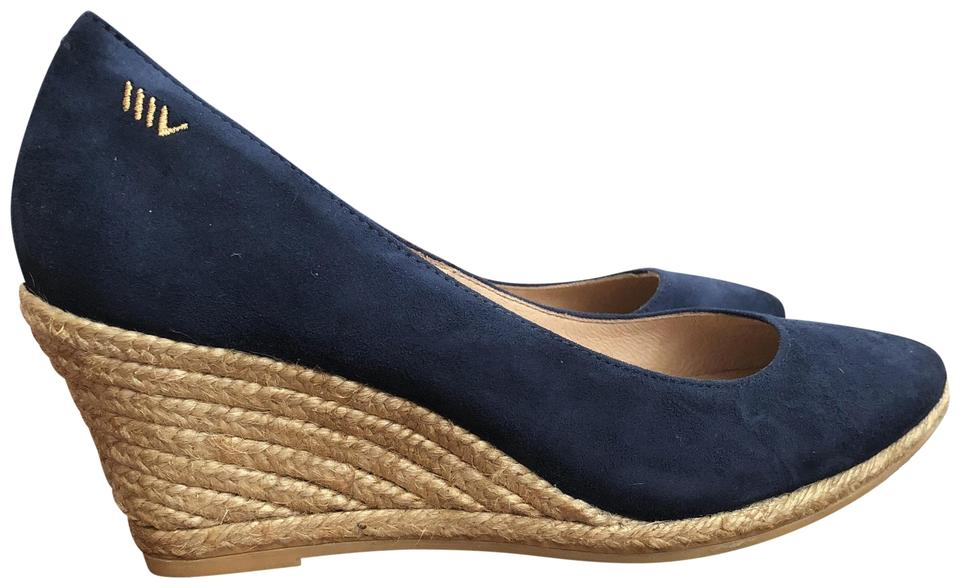 685c1ca1881 Blue Viscata Roses Canvas Espadrille Wedges Size EU 40 (Approx. US 10)  Regular (M, B) 61% off retail