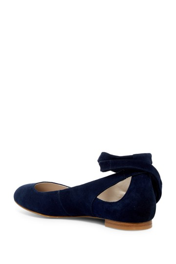 Kenneth Cole Suede Navy Flats