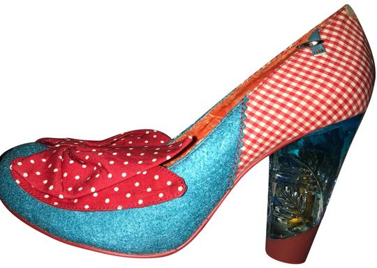 Irregular Choice Blue and Red Pumps