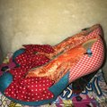 Irregular Choice Blue and Red Bow Pumps Size US 9 (M, B) Irregular Choice Blue and Red Bow Pumps Size US 9 (M, B) Image 3