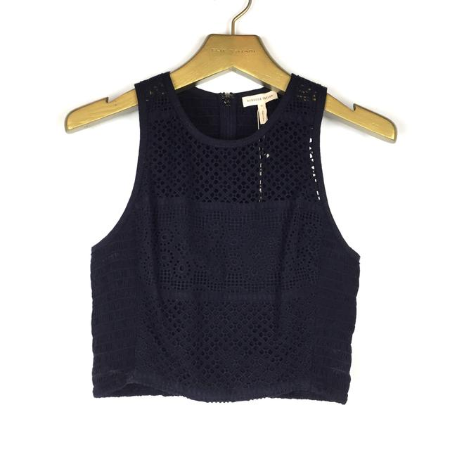 Preload https://img-static.tradesy.com/item/23495719/rebecca-taylor-navy-blue-masie-eyelet-crop-blouse-size-6-s-0-0-650-650.jpg