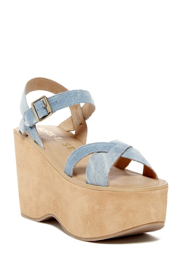 71ef6be80f Kork-Ease Denim Heights Platform Sandals Size US 10 Regular (M, B ...