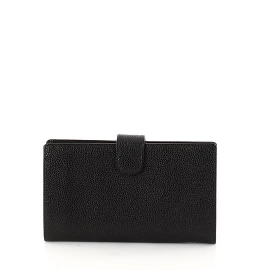 Chanel Chanel Caviar Leather Black Wallet Kisslock