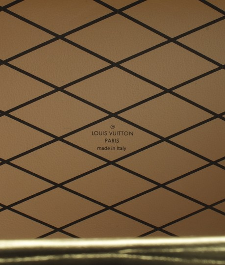 Louis Vuitton Leather GoldxSilver Clutch