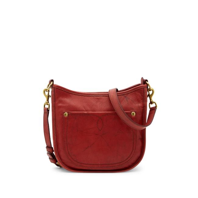 Item - Campus Rivet Burnt Red Distressed Leather Cross Body Bag
