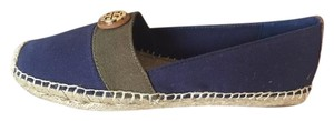 Tory Burch Espadrilles Navy and Olive Flats