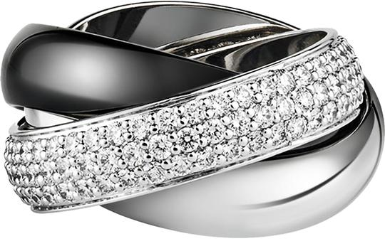 Preload https://img-static.tradesy.com/item/23496006/cartier-ceramic-lm-white-gold-diamonds-trinity-5165-ring-0-1-540-540.jpg