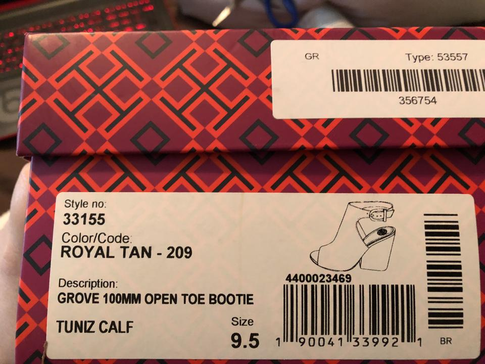 2b48c2be59c Tory Burch New-on Sale This Week Were 289.00---in-box-royal Tan Groove Open  Toe Boots Booties