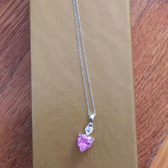 Other pink heart necklace