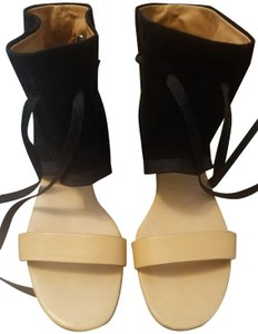 See by Chloé Black and Beige Sandals