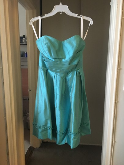 Preload https://img-static.tradesy.com/item/23496215/alfred-angelo-turquoise-silk-feminine-bridesmaidmob-dress-size-8-m-0-0-540-540.jpg