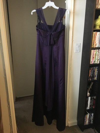 Alfred Angelo Eggplant Polyester Lb-fe3026 Formal Bridesmaid/Mob Dress Size 8 (M)