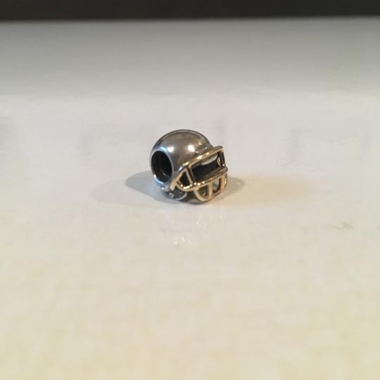 PANDORA Pandora Silver/Gold Football Helmet Charm, Retired