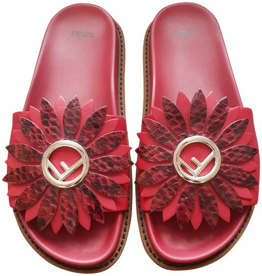 Preload https://img-static.tradesy.com/item/23496318/fendi-red-elaphe-snakeskin-flower-sandals-size-eu-37-approx-us-7-regular-m-b-0-1-540-540.jpg