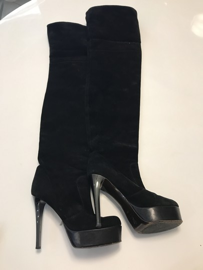 Giuseppe Zanotti Thigh High Suede Black Boots