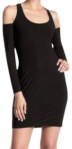 Maria Bianca Nero short dress Black Keyhole Scoop Neck Open Shoulder Lined Easy Go To Staple on Tradesy