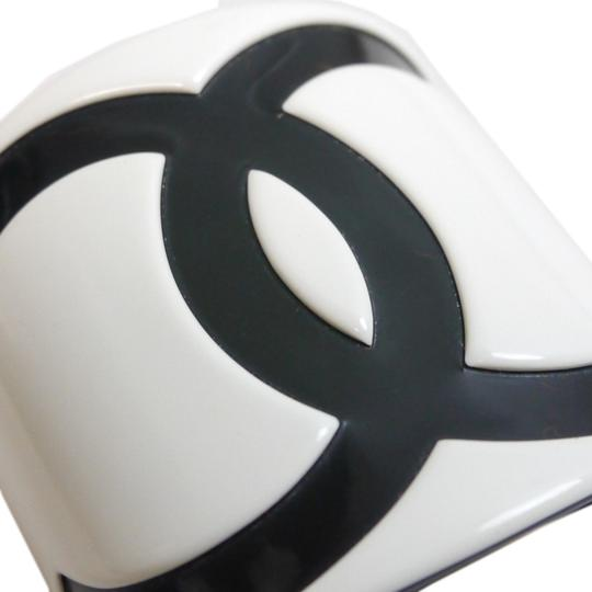 Chanel CHANEL Bangle Coco Mark hair clamp Black Jelly/Plastic Accessory white