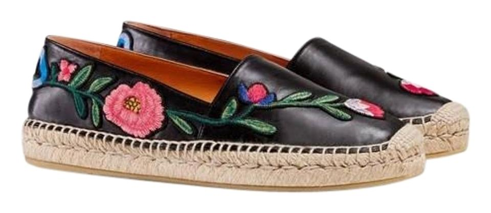 dad9e44aa3f46 Gucci Floral Embroidered Espadrille Flats Size EU 42 (Approx. US 12 ...