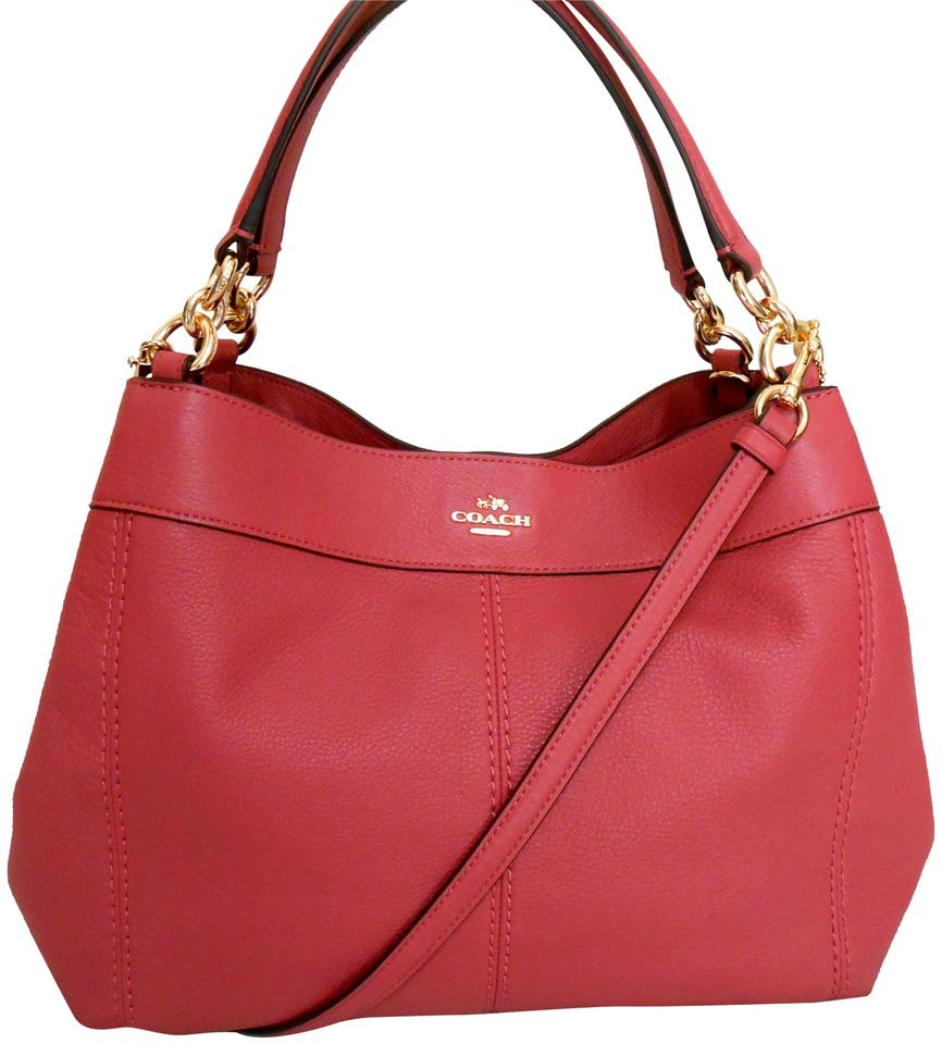 3dce0c9000e5 Coach Lexy Pebbled Pink Rouge Body Shoulder Ba Leather Cross Body ...