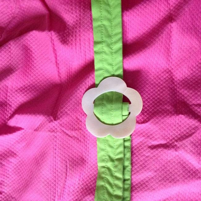 Lilly Pulitzer Everyday Designer Size 12 Green Casual Lilly Belted Pink Shift Work Plain Pink Summer Green A Line Dress