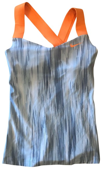 Item - Orange and Gray Striped Activewear Top Size 2 (XS)