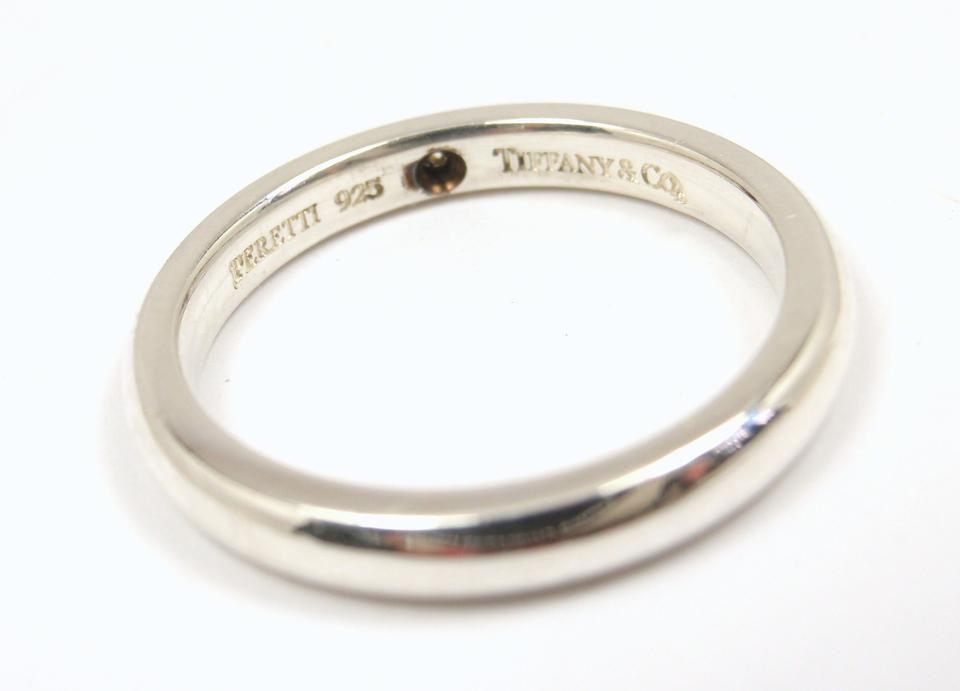 7c8185d78 Tiffany & Co. Elsa Peretti Sterling Silver Diamond Stacking Band Ring Image  3. 1234