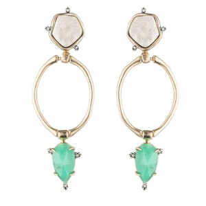 Alexis Bittar Druzy Stone Post Link Earring