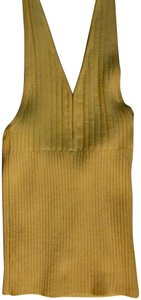 Guess Cotton Yellow Halter Top