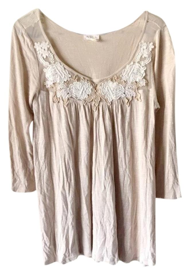 aa7b8f9a73 Anthropologie Meadow Rue Lace Floral Embroidered Blouse Size 8 (M) - Tradesy