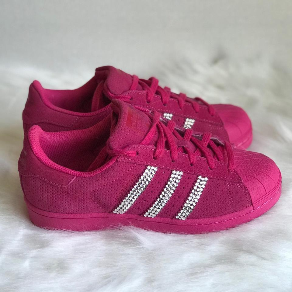 e5ddefb97a3e9 adidas Pink Superstar Women's Customized with Swarovski® Crystals Sneakers  Size US 6.5 Regular (M, B) 25% off retail