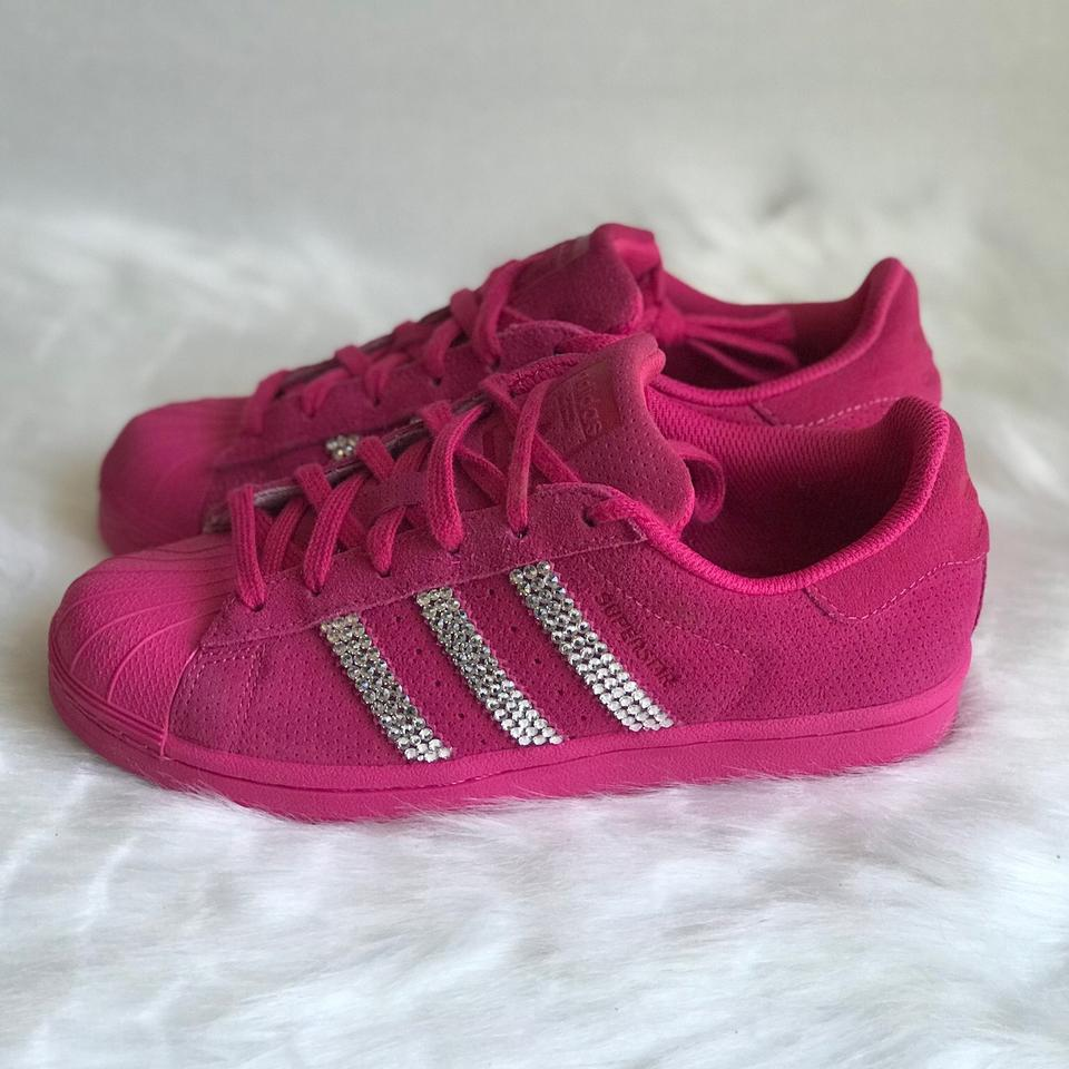 the best attitude caf72 b8fed adidas Pink Superstar Womens Customized with Swarovski® Crys
