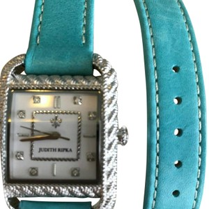 Judith Ripka Judith Ripka Stainless Steel and Leather Watch. Very good condition!