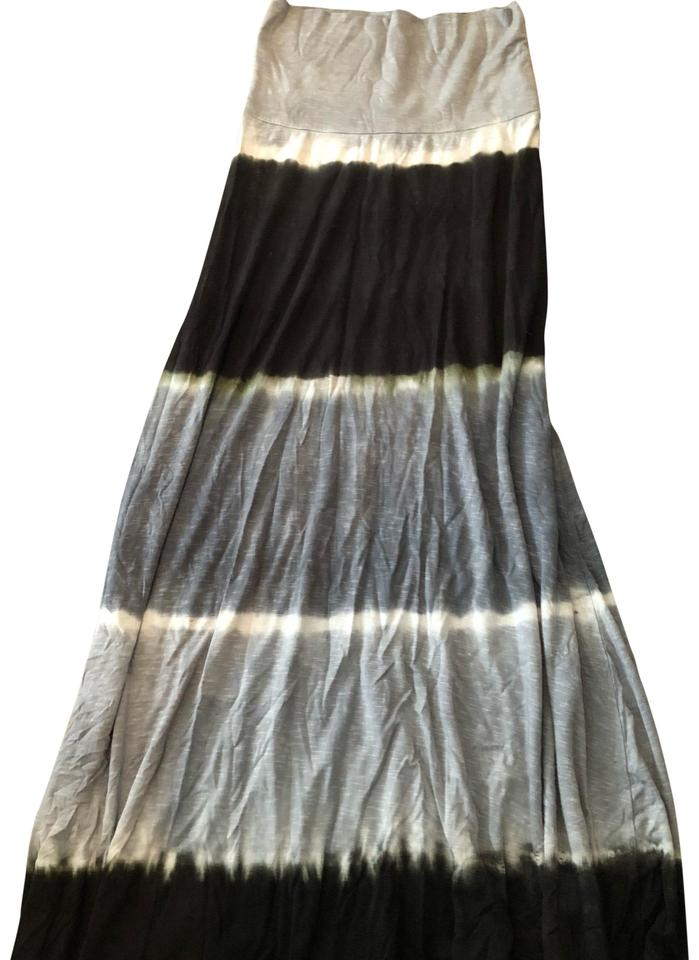 9f20154b5b Lucky Brand Tie Die/ Black & Gray Skirt/ Cover-up/Sarong Size 2 (XS ...